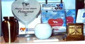 We have a large selection of beautiful urns and other memorial items.